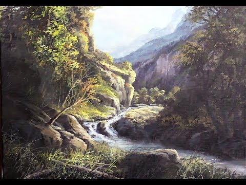 Vast Mountain Stream   Paint with Kevin