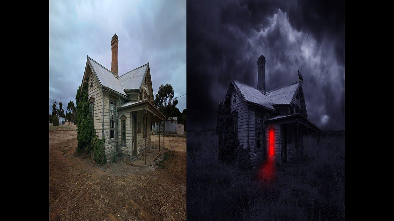 Photoshop Tutorial   Making Wooden Ghostu0027s House Scene   YouTube