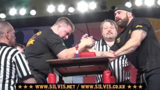 [팔씨름] 미국 팔씨름 챔피언 ┃ [Armwrestling] 2014 ACAC - S.Ballinger vs J.Toups