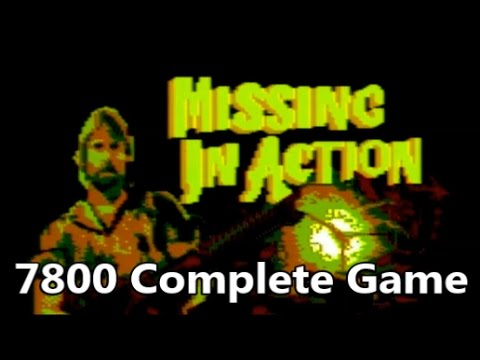 Missing in Action Atari 7800 Prototype Complete Game Gameplay - The No Swear Gamer