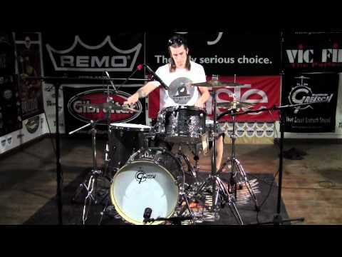 Greenbrier Percussion - Gretsch Catalina Club Black Galaxy 3pc. Bop Kit Demo