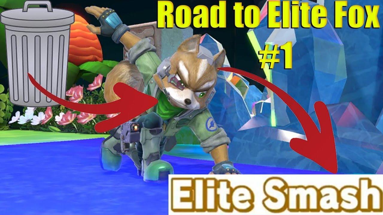 TRASH TO ELITE SMASH FOX GAMEPLAY   (Super Smash Bros  Ultimate) Low gsp to  Elite Smash [Part 1]
