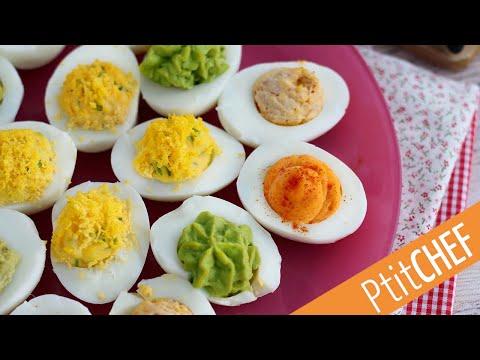 recette-d'oeufs-mimosa-déclinés-en-4-saveurs---ptitchef.com