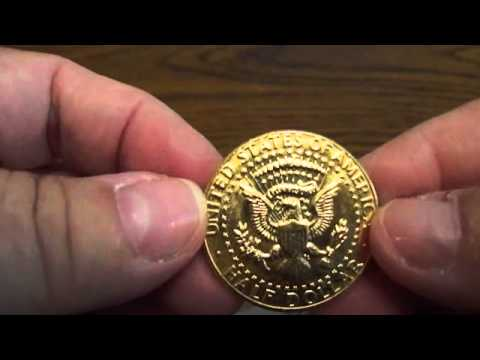 1985 Kennedy Half Dollar 24kt.Gold Plated Coin