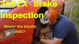 300ZX Z32  - Brake Inspection Where is the 300ZX ABS module? 300zx Brake inspection