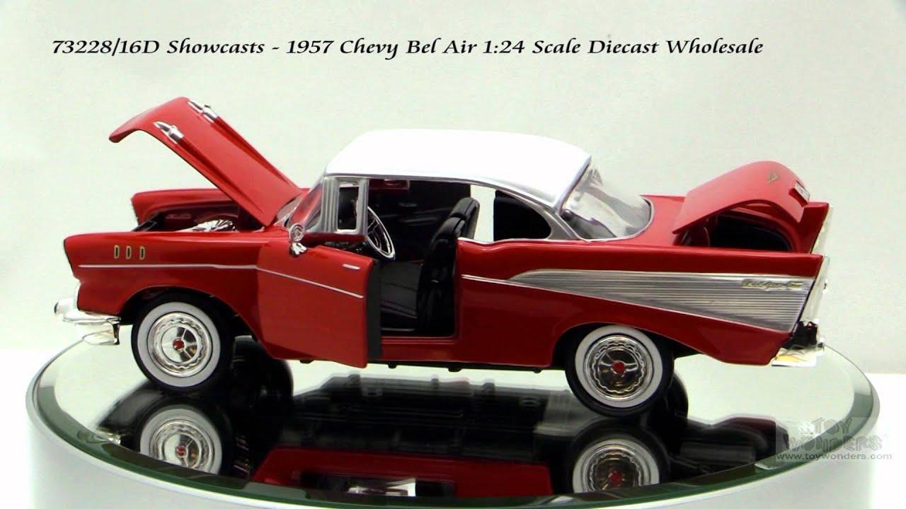 73228 16d showcasts 1957 chevy bel air 1 24 diecast wholesale