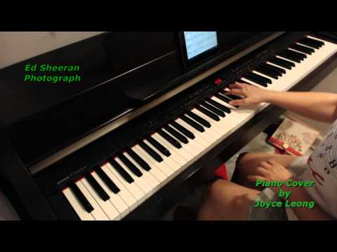 Ed Sheeran - Photograph - Piano cover and sheets