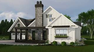 MODERN FARMHOUSE HOUSE PLAN 098-00301
