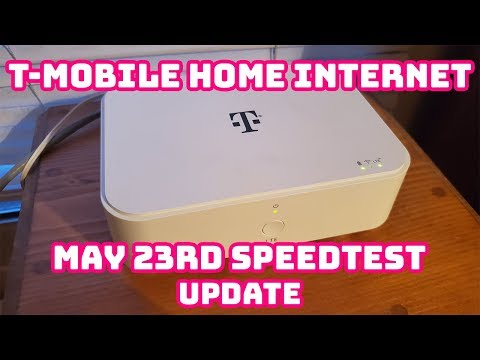 T-Mobile Home Internet Speedtest May 23, 2019