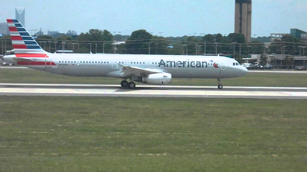American Airlines Ex Us Airways A321 Takeoff Charlotte