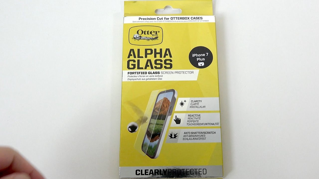online store 8a0ea 6dbc6 OtterBox Alpha Glass Screen Protector for iPhone 7 Plus