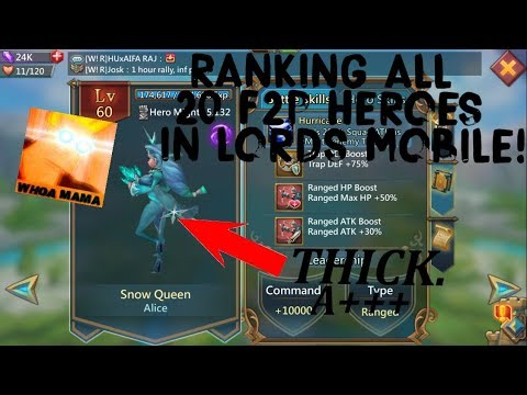 Lords Mobile: Ranking And Grading All 20 F2P Heroes!