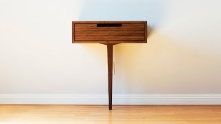 Build A Modern One Legged Cabinet - Woodworking