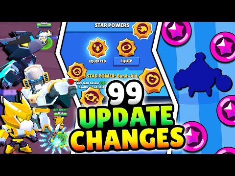 99 NEW UPDATE CHANGES! NEW BRAWLER, LEGENDARY STAR SKINS & MORE IN BRAWL STARS! BIGGEST UPDATE EVER