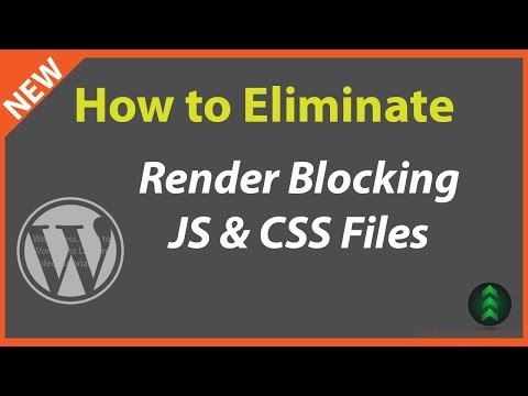 WordPress eliminate render-blocking javascript and css in above-the-fold content