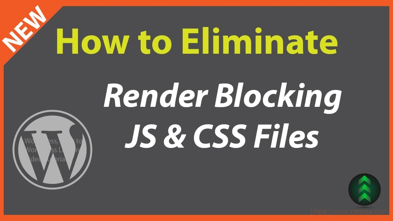 Eliminate Render-Blocking JavaScript and CSS in Above-The-Fold Content in  WordPress