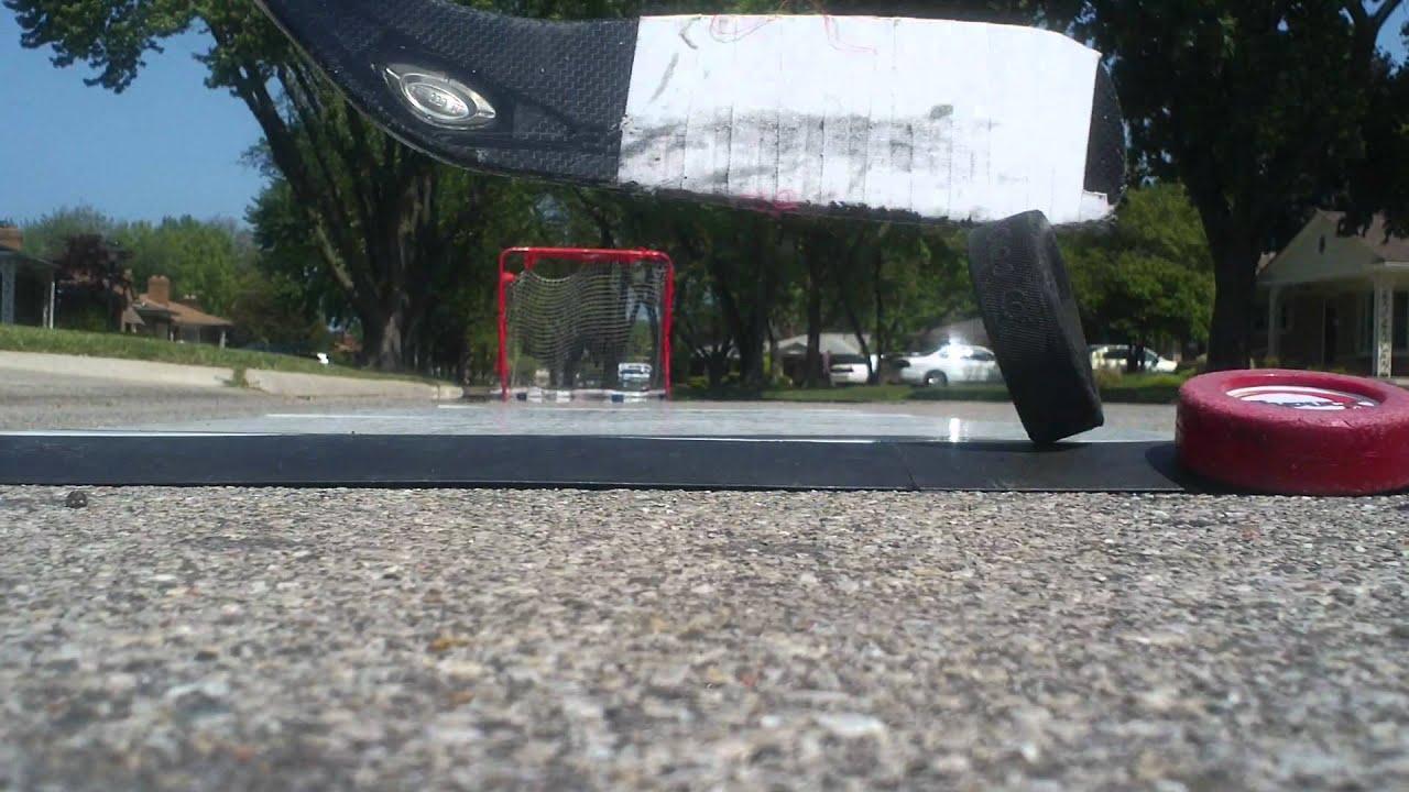 Shooting On Dryland Flooring Tiles Hockeyshot Youtube