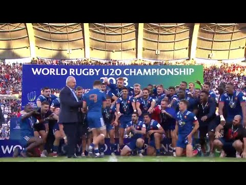 France lift World Rugby U20s trophy!