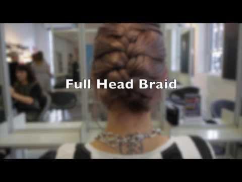 How To Create  A Full Head Braid Hair tutorial