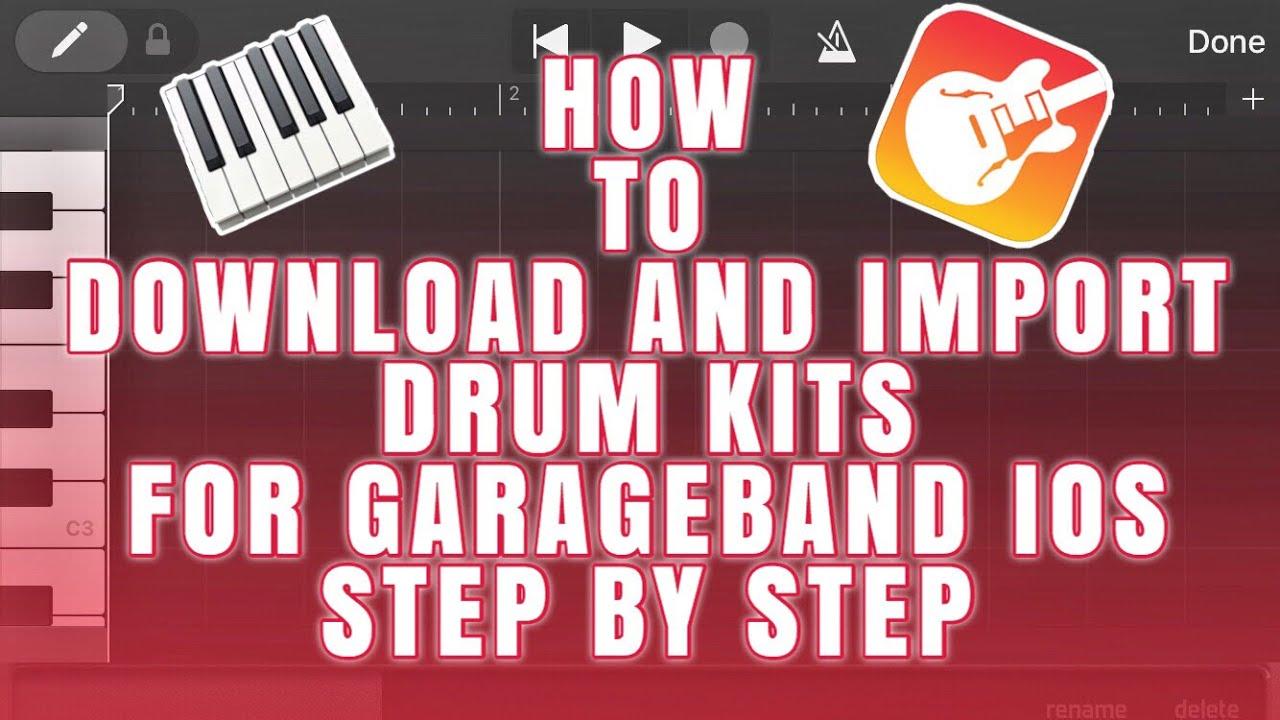 How To Import Drum Kits To GarageBand Sampler iOS | GarageBand IOS Tutorial  | GarageBand iPhone/IPad