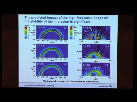 Colloquium, September 25th, 2014 -- The High-Foot Implosion Campaign & Progress Towards Ignition