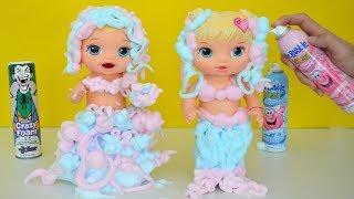 Las Muñecas Baby Alive jugando y haciendo Fabulosos vestidos con Espuma!!! TotoyKids