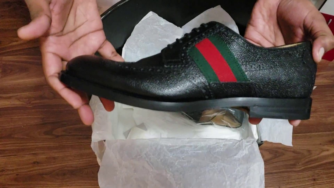 1365d6b36a6 Gucci Mens Shoe Unboxing - YouTube