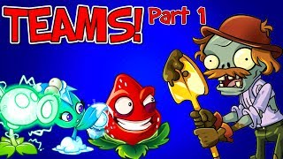 Plants vs Zombies 2 Shield Excavator Zombie vs Teams Plants Part 1 - The Best Teams in Plants