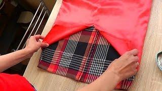 Обработка низа платья