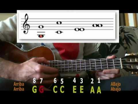afinar ukelele de  cuerdas  strings ukulele tuning youtube