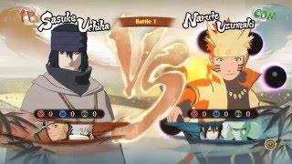 Naruto Shippuden Ultimate Ninja Storm 4: Sasuke Rinnegan The Last VS Naruto Sage of Six Path