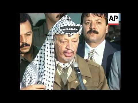 Gaza - Arafat comments on peace process