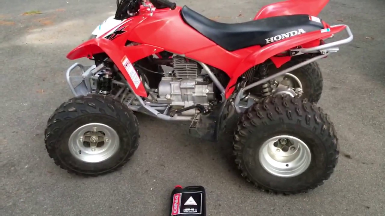 medium resolution of how to change the oil on a honda trx 250x homeowner repair