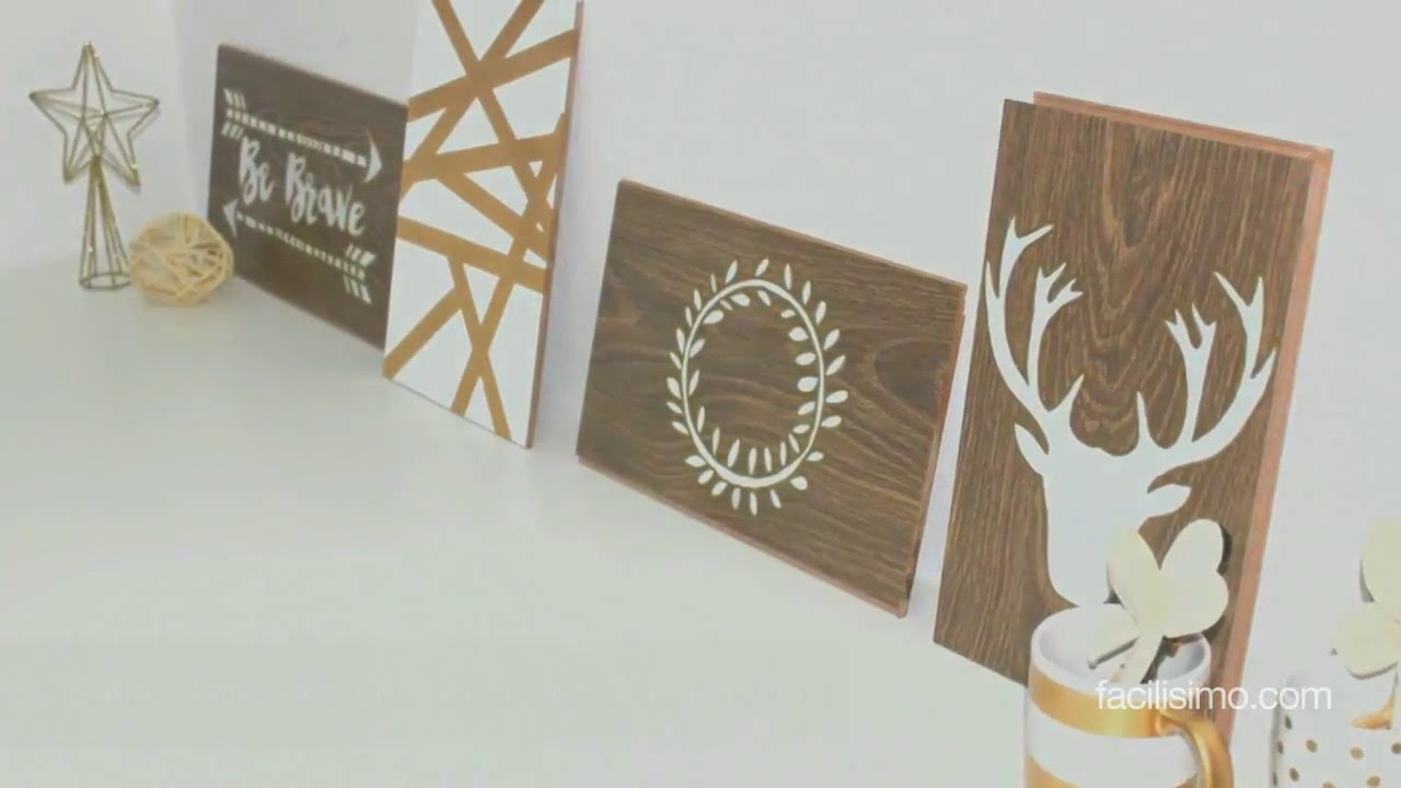 Cómo hacer cuadros decorativos con madera | facilisimo.com - YouTube