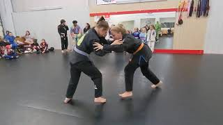 Quick takedown game at the end of class