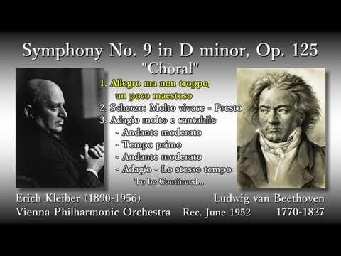 Beethoven: Symphony No. 9, E. Kleiber & VPO (1952) ベートーヴェン 交響曲第9番 E. クライバー(詞字幕有)
