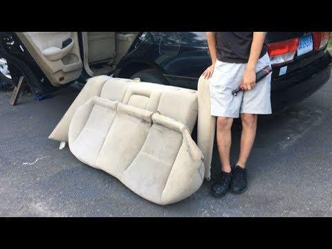 How To Remove Rear Penger Seat Top Bottom Honda Accord 2003 2007 Diy Auto Repair Guide