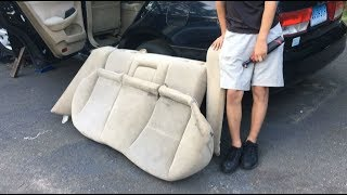 How To Remove Rear Passenger Seat Top & Bottom Honda Accord 2003-2007 | DIY Auto Repair Guide