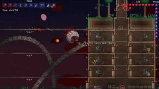Random Terraria Videos: Eye of Cthulu and Eater of Worlds Bosses (BLOOD MOON!)