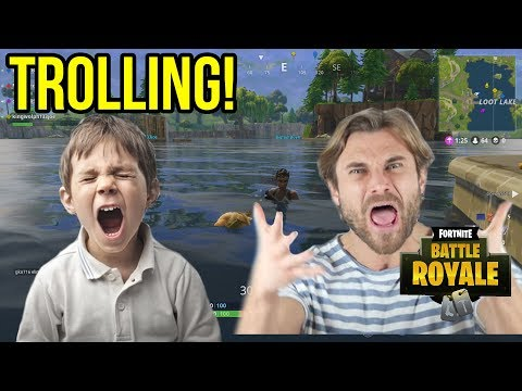 FORTNITE TROLLING - DAD SCREAMS AT SON ON THE MIC! (Fortnite Battle Royale Voice Trolling)