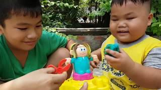 Trò Chơi Bé Làm Tóc ❤ ChiChi ToysReview TV ❤ Đồ Chơi Trẻ Em Baby Doli Hair