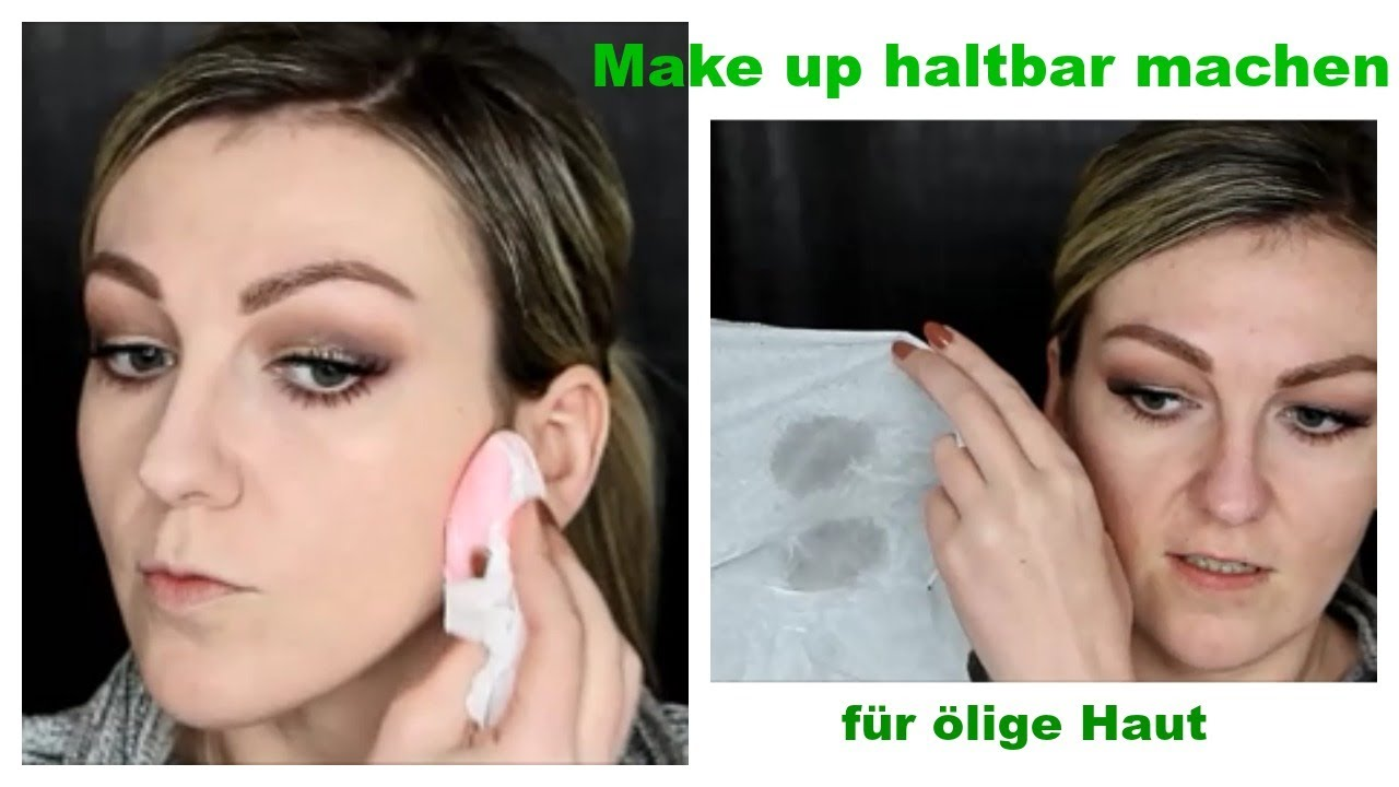 Make-up sitzt in den Poren