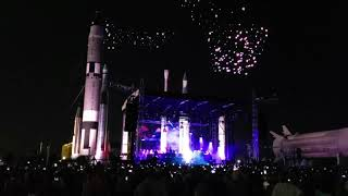 Duran Duran opening with Studio Drift drone show at KSC Apollo 11 50th Anniversary concert in Rocket