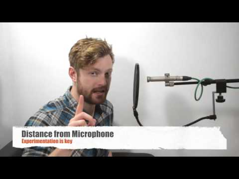 voice over recording microphone placement