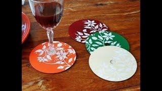 """【DIY】好きな音楽や映画の「CD」を活用したハンドメイド雑貨アイデア♡~Handmade miscellaneous goods idea using """"CD""""."""