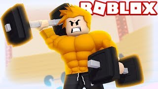 I'M GETTING SUPER STRONG-Roblox (Academy Simulator)