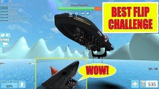 """ROBLOX - SHARKBITE BOAT FLIP CHALLENGE"""