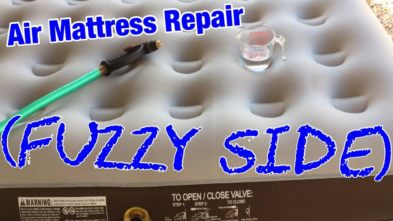 Air Mattress Repair Fuzzy Side Youtube