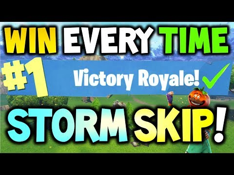 How to win every time STORM SKIPPING Tactic - FORTNITE Battle Royale - Xbox One, PS4 & PC - SEASON 4