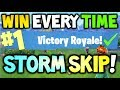 How to win every time STORM SKIPPING Tactic - FORTNITE Battle Royale SEASON 4 - Xbox One, PS4 & PC